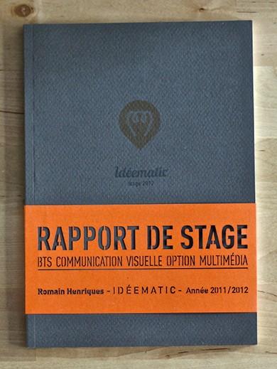 Romain henriques graphiste webdesigner int grateur - Rapport de stage en cuisine ...